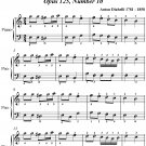 Bagatelle Opus 125 Number 10 Easy Piano Sheet Music PDF