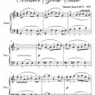 Pavane of Sleeping Beauty Mother Goose Suite Easy Piano Sheet Music PDF
