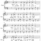Boys From the County Armagh Easy Piano Sheet Music PDF