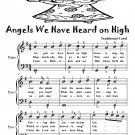 Angels We Have Heard On High Easiest Piano Sheet Music Tadpole Edition PDF