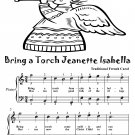 Bring a Torch Jeanette Isabella Easy Piano Sheet Music Tadpole Edition PDF
