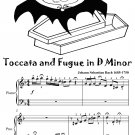 Toccata and Fugue in D Minor Easy Piano Sheet Music Tadpole Edition PDF