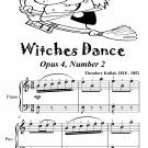 Witches Dance Opus 4 Number 2 Easy Piano Sheet Music Tadpole Edition PDF