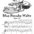 Blue Danube Waltz Opus 314 Easiest Piano Sheet Music Tadpole Edition