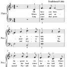 Avondale Easy Piano Sheet Music PDF