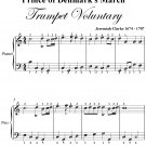 Prince of Denmark's March Trumpet Voluntary Easy Piano Sheet Music PDF