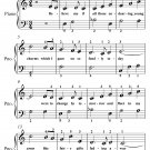 Believe Me If All Those Endearing Young Charms Easy Piano Sheet Music PDF