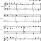 Pas Des Fleurs Dance of the Flowers Easiest Piano Sheet Music PDF