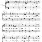 Las Mananitas Easy Piano Sheet Music PDF