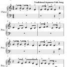 Yuki Japanese Song Song Beginner Piano Sheet Music PDF