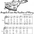 Angels From the Realms of Glory Easy Piano Sheet Music Tadpole Edition PDF