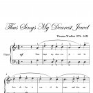 Thus Sings My Dearest Jewel Easy Piano Sheet Music PDF