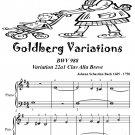 Goldberg Variations BWV 988 22a1 Clav Alla Breve Easiest Piano Sheet Music Tadpole Edition PDF