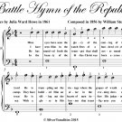 Battle Hymn of the Republic Easiest Piano Sheet Music PDF
