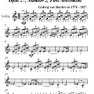 Moonlight Sonata First Movement Easy Violin PDF