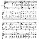 Pat Malloy Easy Piano Sheet Music PDF