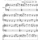 Promenade Pictures at an Exhibition Easy Piano Sheet Music PDF