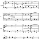 Waves of the Danube Easy Piano Sheet Music PDF