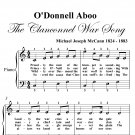 O'Donnell Aboo Clanconnel War Song Easy Piano Sheet Music PDF