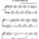 Arrival of the Queen of Sheba Beginner Piano Sheet Music PDF