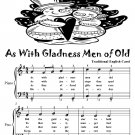 As With Gladness Men of Old Easy Piano Sheet Music Tadpole Edition PDF
