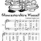 Gloucestershire Wassail Easy Piano Sheet Music Tadpole Edition