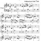 Pavan the Earle of Salisbury Beginner Piano Sheet Music PDF