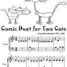 Comic Duet for Two Cats Beginner Piano Sheet Music Tadpole Edition PDF