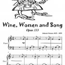 Wine Women and Song Opus 333 Easiest Piano Sheet Music Tadpole Edition PDF