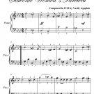Farewell Slavianka Slavonic Women's Farewell Easy Piano Sheet Music PDF