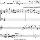 Toccata and Fugue in D Minor Easy Piano Sheet Music PDF
