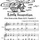 Little Invention First Term at the Piano Sz53 Number 3 Easiest Piano Tadpole Edition PDF