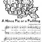 A Mince Pie or a Pudding Easiest Piano Sheet Music Tadpole Edition PDF