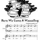 Here We Come a Wassailing Easy Piano Sheet Music Tadpole Edition PDF