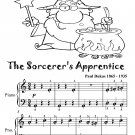 Sorcerer's Apprentice Paul Dukas Easy Piano Sheet Music Tadpole Edition PDF
