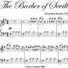 The Barber of Seville Easy Piano Sheet Music PDF