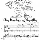 The Barber of Seville Easy Piano Sheet Music Tadpole Edition PDF