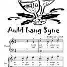 Auld Lang Syne Easy Piano Sheet Music PDF