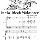 In the Bleak Midwinter Easy Piano Sheet Music Tadpole Edition PDF