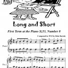 Long and Short First Term at the Piano Sz53 Number 8 Easiest Piano Sheet Music PDF