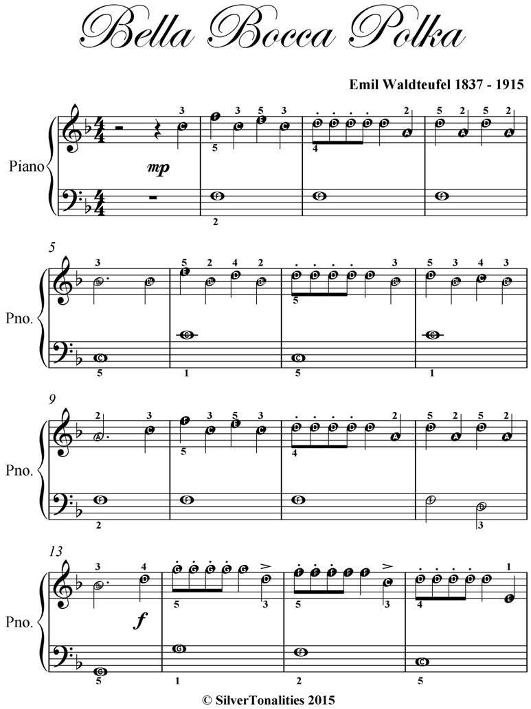 Bella Bocca Polka Easiest Piano Sheet Music PDF