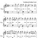 Carol of the Bagpipers Easy Piano Sheet Music PDF