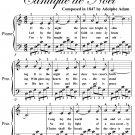 O Holy Night Easy Piano Sheet Music PDF