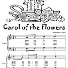 Carol of the Flowers Easy Piano Sheet Music Tadpole Edition Pdf