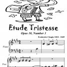 Etude Tristesse Opus 10 Number 3 Beginner Piano Sheet Music Tadpole Edition PDF