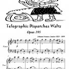 Telegraphic Dispatches Waltz Opus 195 Easiest Piano Sheet Music Tadpole Edition PDF