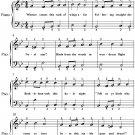 Carol of the Birds Easy Piano Sheet Music PDF
