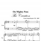 On Mighty Pens the Creation Easy Piano Sheet Music PDF