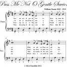 Pass Me Not O Gentle Savior Easy Piano Sheet Music PDF