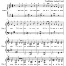 A Mince Pie or a Pudding Easy Elementary Piano Sheet Music